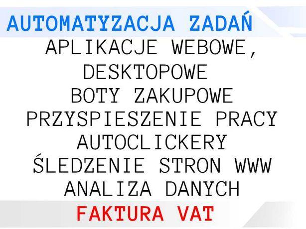 Usługi programistyczne - automatyzacja, boty, aplikacje - FAKTURA VAT