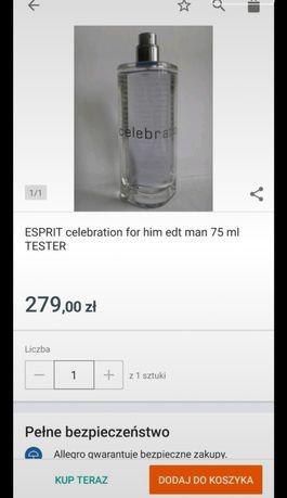 Perfumy męskie ESPRIT celebration for him edt man Woda toaletowa 75ml