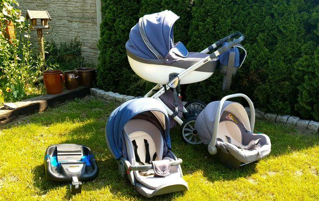 Wózek Anex sport 3w1 turkusowo-szary