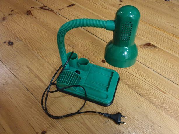 Lampka na biurko z koszyczkiem jak z PRL zielona z żarówką