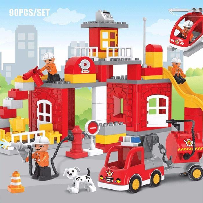 Конструктор 188-101 «Пожарная часть» 90 крупных деталей Харьков - изображение 1