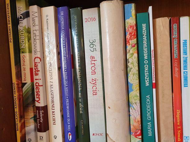 Książki różne, o gotowaniu i zdrowiu