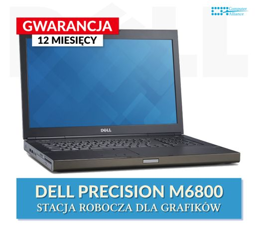 Laptop Dell M6800 i7-4800QM 16GB 256GB SSD K4100m 4GB Klasa A+