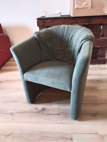 Fotele 2 szt.plus pufy 2 szt.Zielone