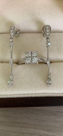 Kolczyki złote z Apartu z diamentami