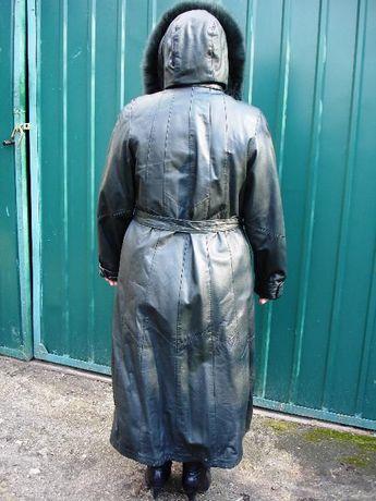 Женский кожаный плащ (стёганый)