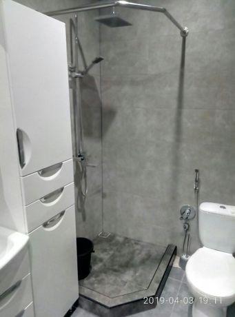 Карниз штанга из нержавейки в ванную для душевой шторки или занавески