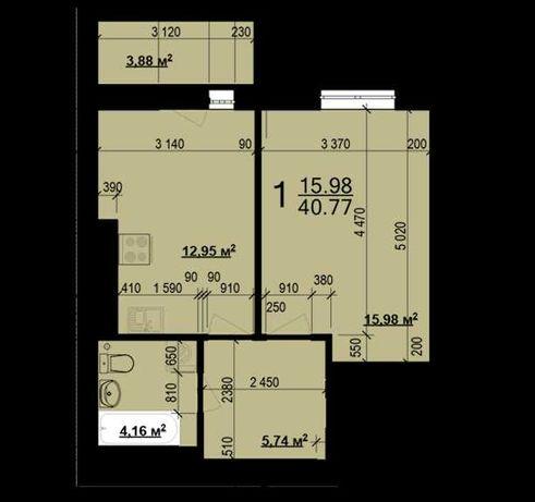 29001 уе продам 1 ком квартиру ЖК Мира! Лучшая планировка B