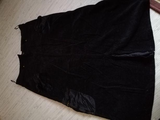 Вельветовая длинная юбка р. М-Л