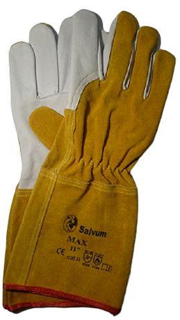 Rękawice spawalnicze skóra KOZIA-BYDLĘCA KEVLAR MOCNE