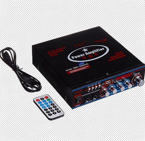 Звуковой стереоусилитель мощности amp av 316 bt 308 30 вт фм приёмник