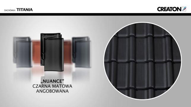 Creaton Titania czarna angoba matowa dachówka ceramiczna