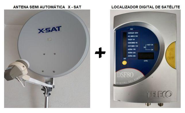 Antena Parabólica + Localizador digital para autocaravana