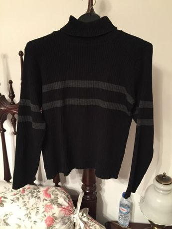 Camisola preta riscas cinza M/L