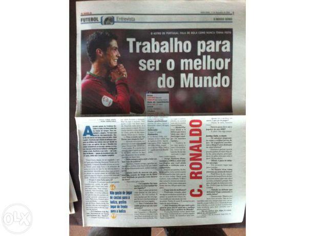 Cristiano Ronaldo - Mais de 100 recortes. Portes grátis!