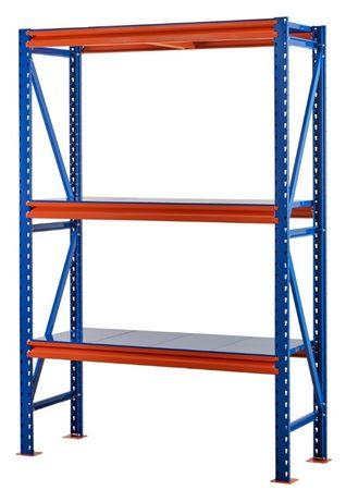 Металлические складские стеллажи повышенной нагрузки 1000 кг/полку