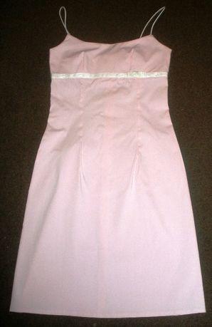 Sukienka Różowa na ramiączkach