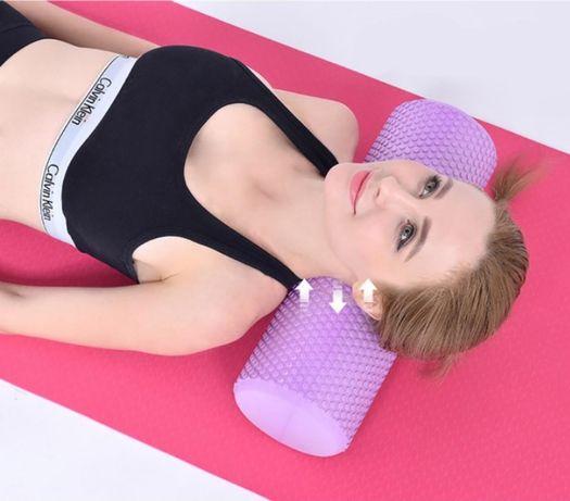 Фоам-роллер валик для спины, роллер массажный для йоги - 45 см 15 см