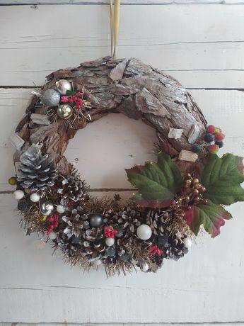 Рождественский венок новогодний декор