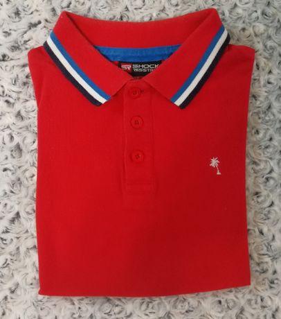 Рубашка-поло Shock Resistant, красная на подростка 12 лет