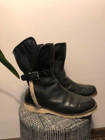 Kozaki r. 40 41 muszkieterki buty zimowe botki