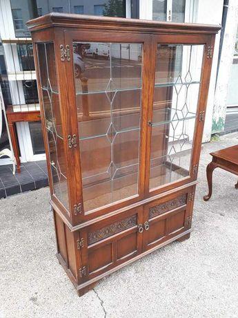 Dębowa witryna z Anglii Wood Bros - Old Charm Furniture ANTYK