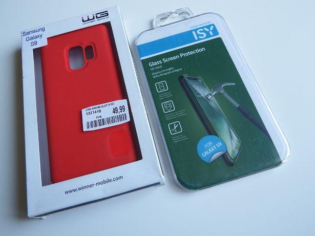 ETUI SAMSUNG S9 RED nowe + SZKŁO Full FRONT dedykowane wzmocnione