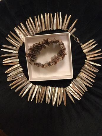 Komplet z masy perłowe