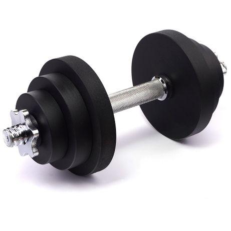Гантель стальная наборная PERTO Black 17.0 кг (G00392)