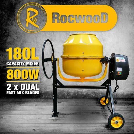 NOWA betoniarka ROCKWOOD 180l żeliwny wieniec 250V 800W