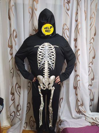Карнавальный костюм скелет Кощей смерть L,XL до 185 см