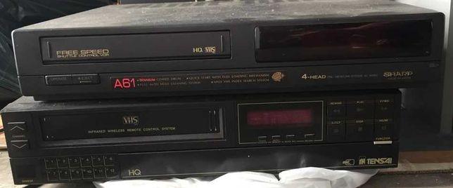 2 Leitores / gravadores VHS Sharp A61 e Tensai