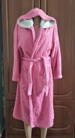 Розовый халат на девочку 15-16 лет девушку р XS,S,M