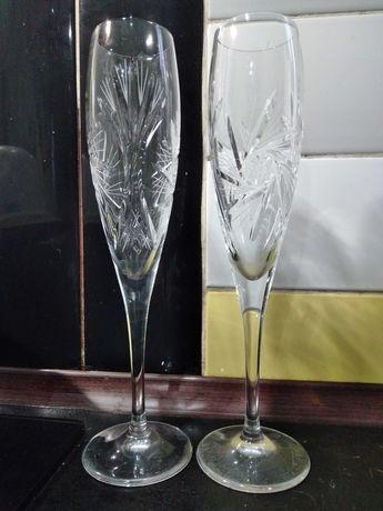 весільні бокали, не пошкоджені, один раз БУ :)