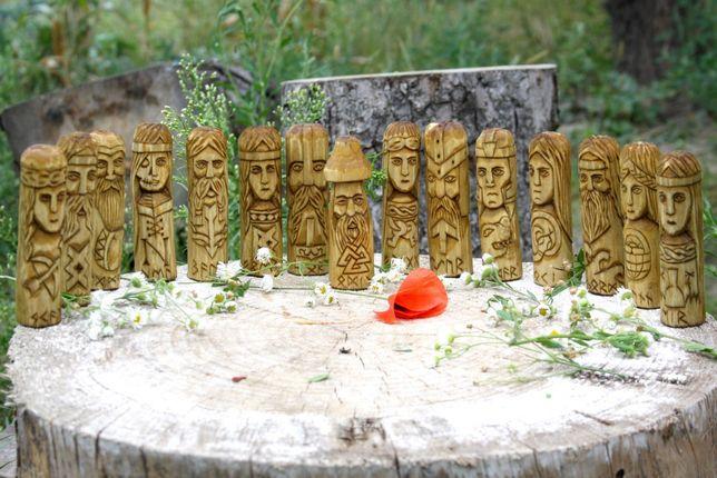 Статуи скандинавских богов ручной работы.Один. Фрея. Тор. Фригг. Тир