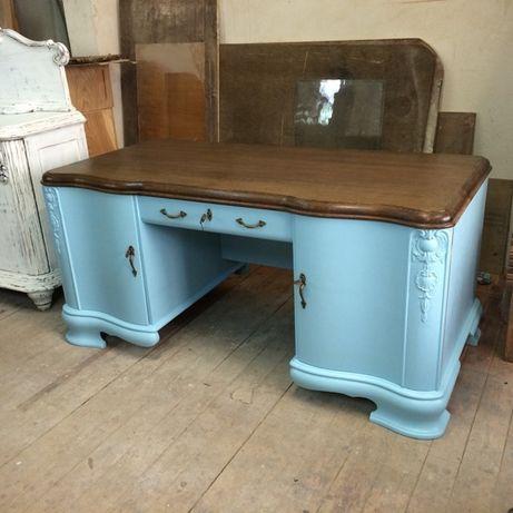 Secesyjne biurko po renowacji