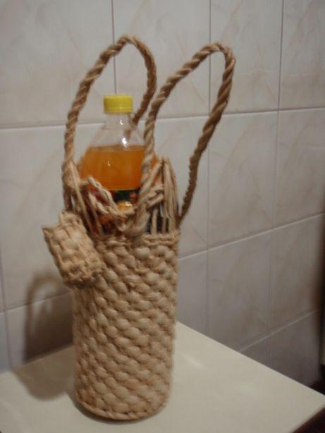 Плетеный чехол для бутылок