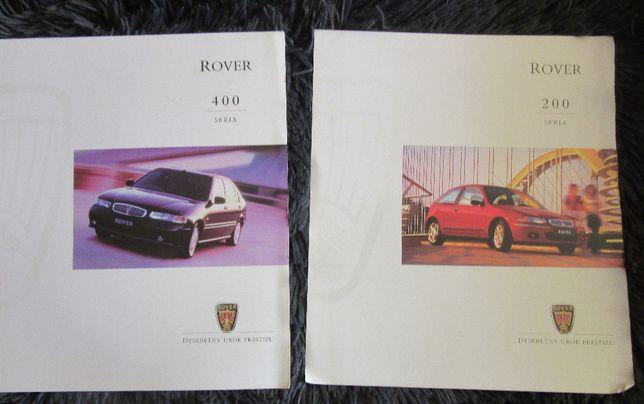 Prospekty foldery broszura Rover 200 seria 400
