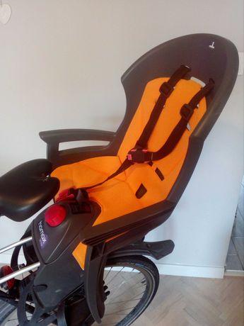 Fotelik rowerowy Hamax Siesta oraz kask dla dziecka Author Mirage.