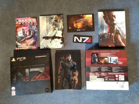 MASS EFFECT 3 N7 - edycja kolekcjonerska PS3 z naszywką   IDEAŁ