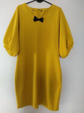 Sukienka L musztardowa