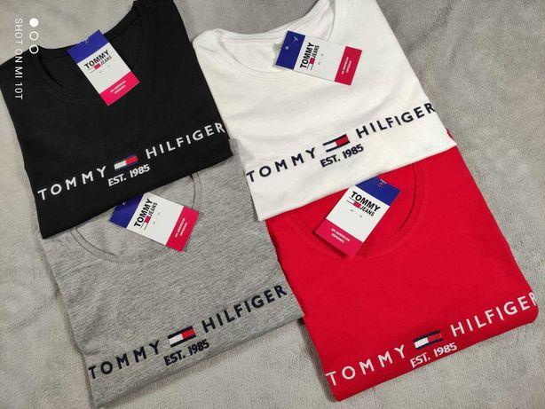 Damska koszulka wyszywana tommy hilfiger TH S-XXL