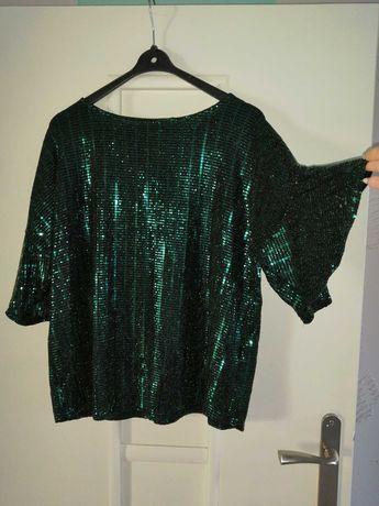 Piękna nowa cekinową bluzka f&f rozmiar 46