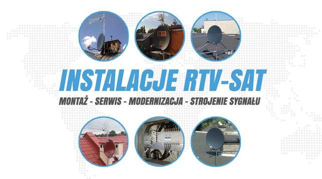 ANTENY sat dvb-t MONTAŻ serwis INSTALACJA anten c+ polsat USŁUGI RTV