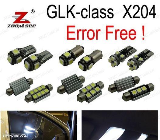 KIT COMPLETO DE 18 LÂMPADAS LED INTERIOR PARA MERCEDES BENZ CLASE SLK R171 SLK200 SLK280 SLK300 SLK