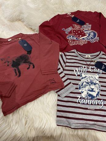 Mango kids 3-4 latka 104 nowe 3 koszulki