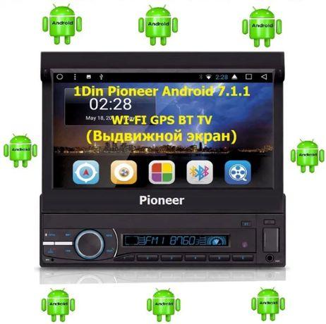"Авто Магнитола DVD Pioneer РМХ 7101 GPS Android 1Din 7"" 7058 7059 9505"