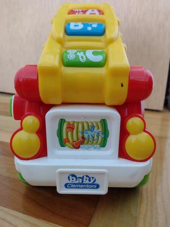 Wóz strażacki do nauki kolorów literek zabawka interaktywna polski ang