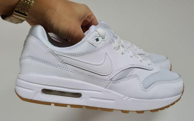 Nowe Nike Air Max 1 rozm 38,5 damskie białe junior sportowe buty