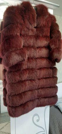 Шуба финский песец. Шубка писец 90 см